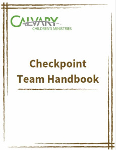 Volunteer Handbook - Checkpoint